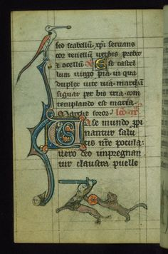 Book of Hours Marginalia Walters Manuscript W.88 fol. 49v by Walters Art Museum Illuminated Manuscripts