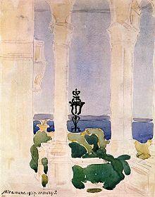 Vaszary Janos -- Miramare 1927 Bélyegkép a április változatról Art Gallery, Painter, Illustration, Painting, Friant, Watercolor And Ink, Serov, Art, Expressionist
