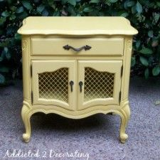 bedside table transformation  Addicted2Decorating