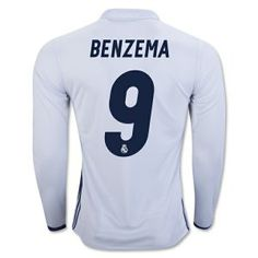 Real Madrid C.F 16-17 Season Home LS #9 BENZEMA Soccer Shirt [G563]