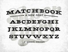 font love: matchbook #font