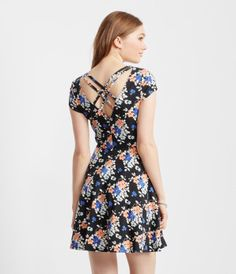 Floral Strappy-Back Skater Dress - Guys And Girls 67c0ba8d3