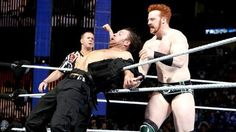 Dean Ambrose gets his vest ripped off by Sheamus at the Elimination Chamber! Thank you fella!