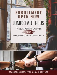 Get better at using technology in the classroom. JumpStart Plus helps you focus on learning instead of tools, and provides an online community for support. Join NOW while enrollment is open! Technology Tools, Educational Technology, Tool Board, Join, Teacher, Classroom, Community, Student, Thoughts