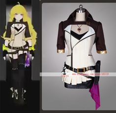 NEW RWBY 2 Yellow Trailer Yang Xiao Long Cosplay Costume Set With Necklace High Quality on Aliexpress.com   Alibaba Group