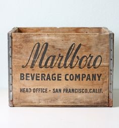 marlboro beverage co   #vintage #packaging
