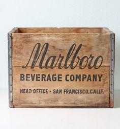 marlboro beverage co   #vintage #packaging