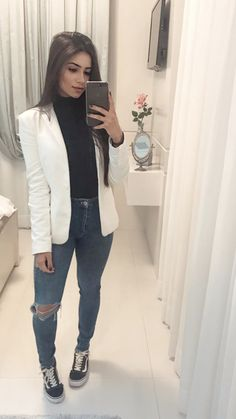 Girly Outfits, Fall Outfits, Summer Outfits, Casual Outfits, Cute Outfits, Fashion Outfits, Fiesta Outfit, Look Blazer, Love Fashion
