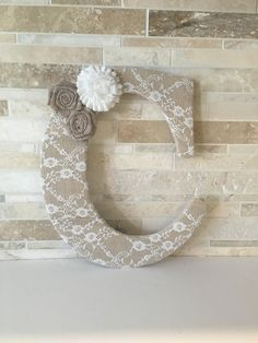 Shop for bridal shower decorations on Etsy, the place to express your creativity through the buying and selling of handmade and vintage goods. Burlap Letter, Diy And Crafts, Arts And Crafts, Candy Party, Creative Home, Lettering Design, Furniture Makeover, Burlap Wreath, Jewelry Art
