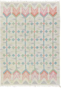 swedish rug, scandinavian rug, vintage rug, floral rug