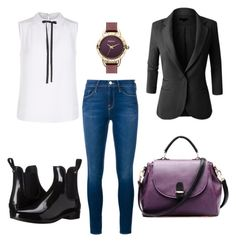 Untitled #184 by filomenamaria on Polyvore featuring polyvore fashion style Mela Loves London LE3NO Frame Denim Sam Edelman Barbour clothing