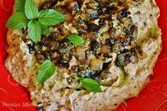 kashk bademjan - Persian eggplant walnut dip