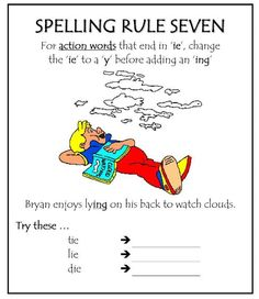 Spelling Rule 7                                                                                                                                                     More