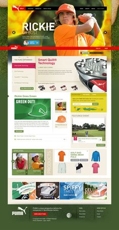 puma golf  Bright and Colorful Web Design Inspiration  #webdesign
