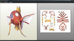 Magikarp pokemon papercraft unfold by Antyyy.deviantart.com on @DeviantArt