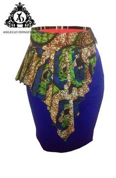Women's African pleated peplum skirt,African fashion, Ankara, kitenge, African women dresses, African prints, Braids, Nigerian wedding, Ghanaian fashion, African wedding.AD