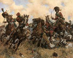 Los Chasseurs à Cheval de la Guardia Imperial en Austerlitz, bajo el mando del Rapp, cargaron contra el regimiento de húsares de la Guardia rusa y una batería. Los cazadores junto con los mamelucos vencieron al regimiento de la Guardia y consiguieron capturar varios cañones.  Más en www.elgrancapitan.org/foro