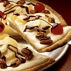 Banana Split Dessert Pizza