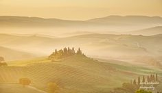 Once upon a time in Tuscany, first light and mist  As it's my Birthday today I'll publish my favourite single shot of Belvedere just after dawn.