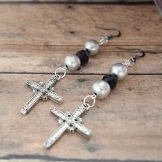 Christian Cross Earrings Christian Jewelry by AllAboutJESUSDesigns