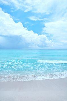 "Beach Photography - Sandy Beaches on the Gulf of Mexico - Aqua blue beach - Portrait Wall Art Photograph - ""Break on the horizon"" Beach Pictures Wallpaper, Ocean Wallpaper, Beach Images, Beach Photos, Pictures Of The Beach, Ocean Pictures, Travel Pictures, Blue Beach, Ocean Beach"