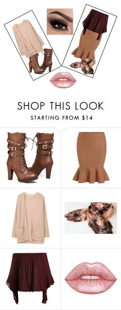 Katrinmania by bamagirl0320 on Polyvore featuring MANGO, Sans Souci and Lime Crime