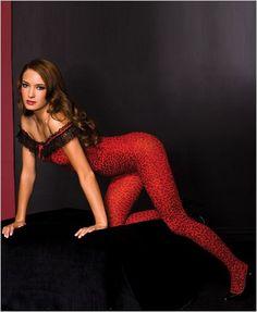Lace Leopard Print Bodystocking