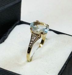 Vintage Ringe - Alter Ring Gold 333 Spinell Shabby Vintage GR164 - ein Designerstück von Atelier-Regina bei DaWanda