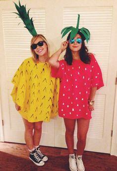 costume femme halloween idée fruits ananas fraise