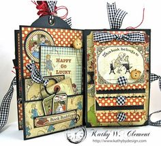 Petaloo Goes Back to School Mini Album, ABC Primer, By Kathy Clement, Product by…