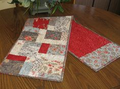 Quilted Table Runner Topper Mothers Day Gift by Mountainquiltworks