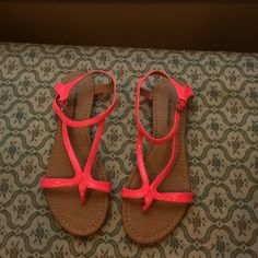 Sandals Hot pink sandals. Worn one time on Easter Sunday. City Classified Shoes Sandals