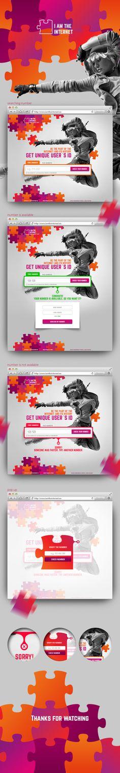 website project https://www.behance.net/gallery/16732543/I-AM-THE-INTERNET-website