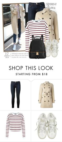 """""""2204. Get The Look"""" by chocolatepumma ❤ liked on Polyvore featuring Frame Denim, Burberry, Converse, Michael Kors, women's clothing, women, female, woman, misses and juniors"""