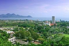 Managua Lake and the city of Managua, Nicaragua