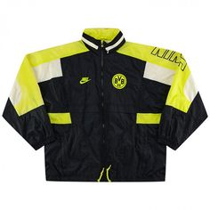 Rare Vintage 1996-97 Borussia Dortmund Nike windbreaker Jacket size L Nike Windbreaker Jacket, Nike Jacket, Hooded Parka, Hooded Jacket, Chaps Ralph Lauren, Half Zip Pullover, Light Jacket, Vintage Nike, Gray Jacket