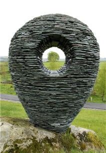 Dry stone sculpture Max Nowell