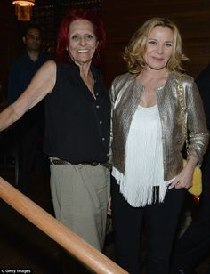 Kim Cattrall and Pat last night at HBO's Leftover's Premiere.