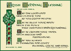 Irish Wedding Blessing (It worked for us!!)
