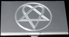 Heartagram Engraved Business ID Credit Card Wallet New Case Holder Gift BUS-0352
