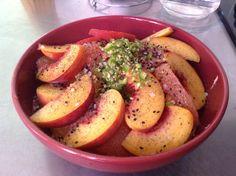 Ensalada de supremas de, naranja, toronja y durazno