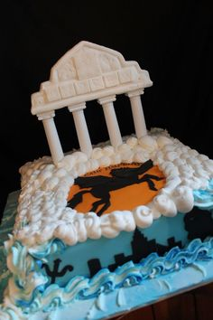 Percy Jackson Inspired Birthday Cake. My Birthday is coming up, and I want this cake. Or just a plain blue one would be OK.