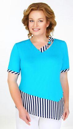 Ivelta plus, blouse semi-adjoining silhouette Blouse Patterns, Blouse Designs, Casual Dresses, Fashion Dresses, Mode Plus, Blouse Styles, Refashion, Blouses For Women, Plus Size Fashion