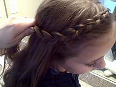 Dutch Braids from Cute Girls Hairstyles: This is one of my daughter's favorites. I can tie them back over her straight hair or under to make it look like a braided headband. Cute both ways!