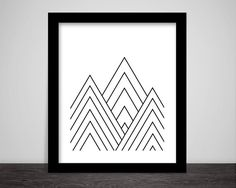 Hey, I found this really awesome Etsy listing at https://www.etsy.com/uk/listing/226104942/geometric-triangles-line-art-black-and
