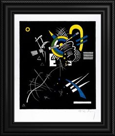 """""""Kleine Welten VII (Small Worlds VII)"""" canvas print by Russian artist Wassily Kandinsky. Featured in a black frame. Discover more wall art at GreatBIGCanvas.com"""