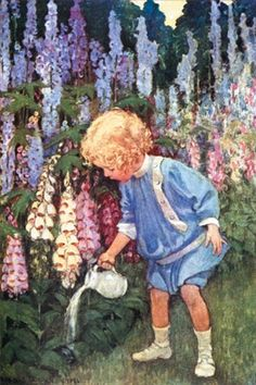 Jessie Willcox Smith Illustrations | Jessie Wilcox Smith - Fairy Gardens - art prints and posters