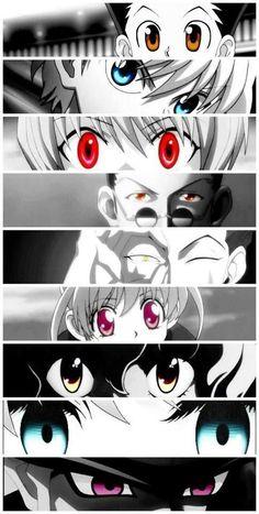 Gon, Killua, Kurapika, Leorio, Hisoka, Bisky, Pitou, Komugi, and Meruem        ~Hunter X Hunter