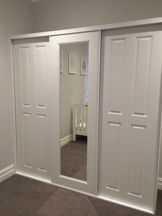 Sliding robe with doors on Walk In Robe, Closet Doors, Sliding Doors, Wardrobes, Armoire, Tall Cabinet Storage, Bedrooms, House, Furniture