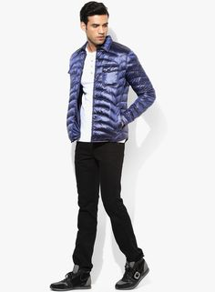 d17f1e6ffbb Buy GAS Blue Solid Quilted Jacket Online - 5547463 - Jabong
